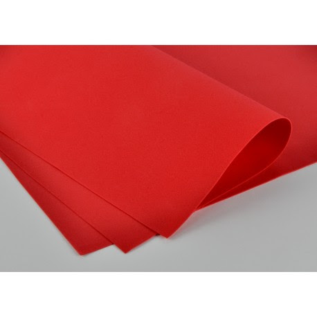 Foamiran - czerwony