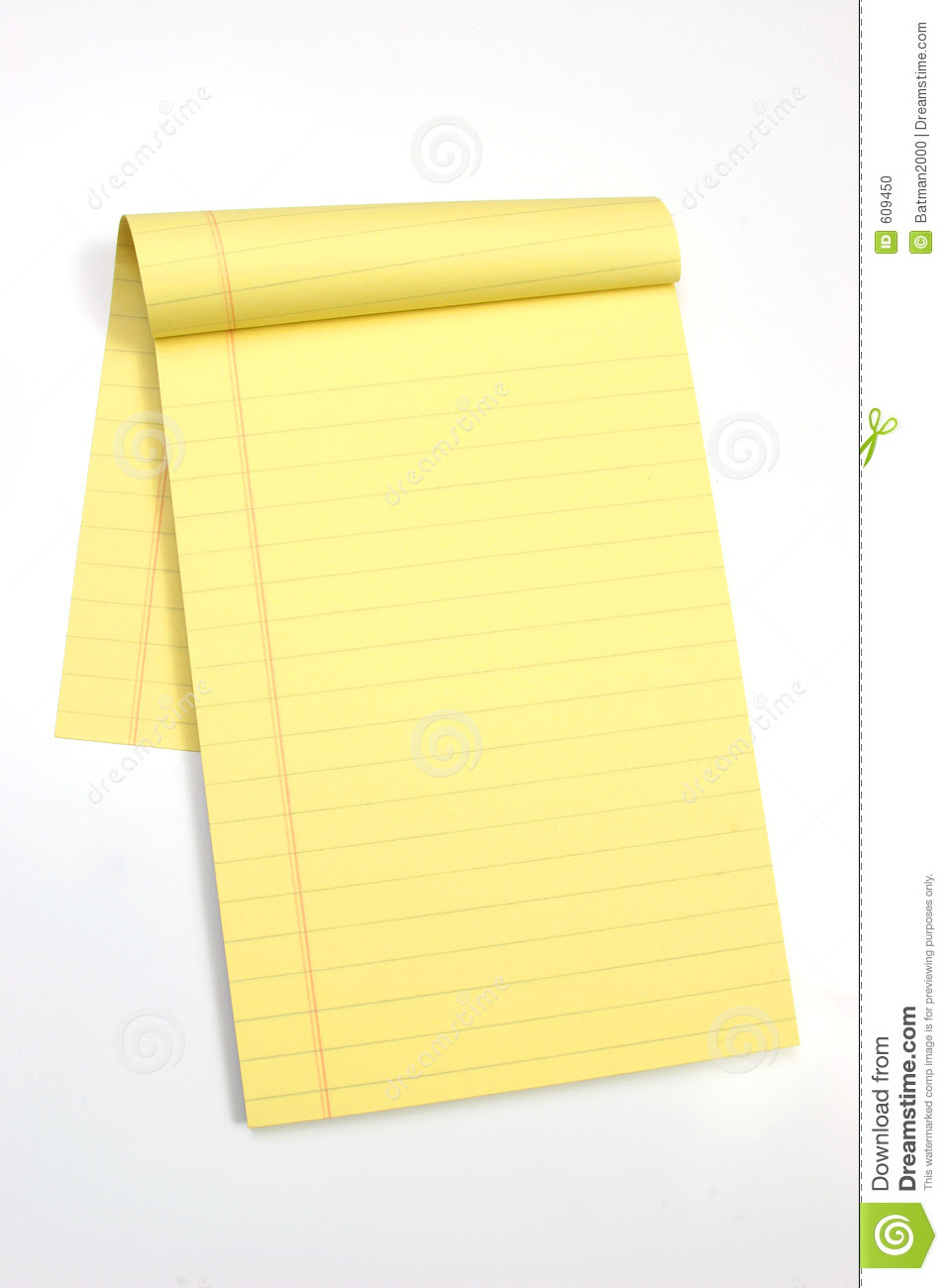 Blank Yellow Pages Vertical Stock Photo - Image: 609450