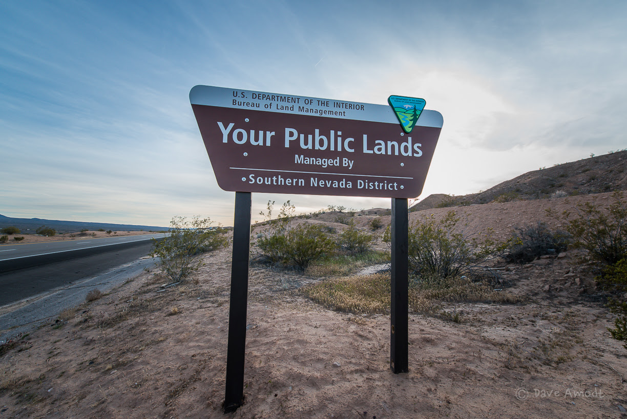 BLM sign along Interstate 15. Bunkerville, Nev., April 3, 2014 | Photo by Dave Amodt, St. George News