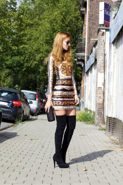 Glitter bodycon mini dress