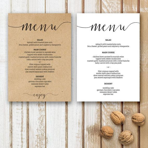 1000+ ideas about Wedding Menu Template on Pinterest   Wedding ...