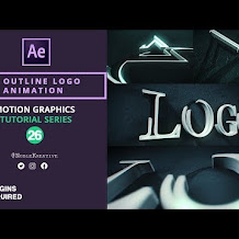 Cara Membuat Animasi Outline Logo 3D di After Effects