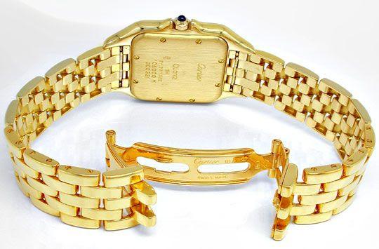 Foto 3, Cartier Panthere Herren-Uhr Gelbgold Geprüft Neuzustand, U1930