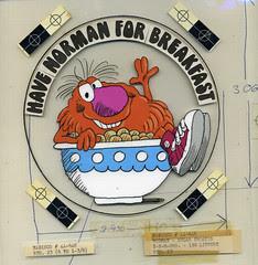 Norman Cereal sticker art