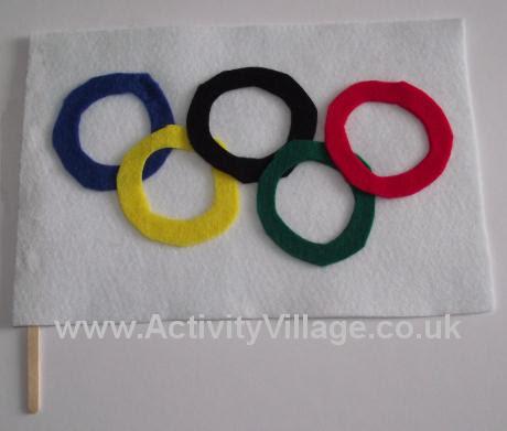 Felt Olympic flag