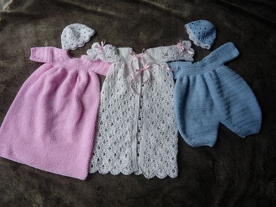 PATTERN in PDF Baby Crochet Pattern Christening Dress REBORN 120 pdf
