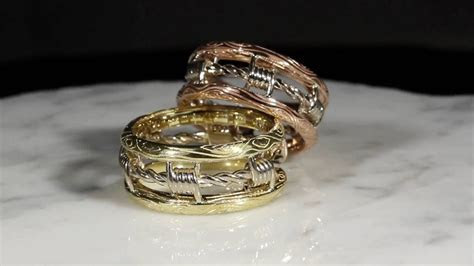 Barbed Wire Wedding Bands   YouTube