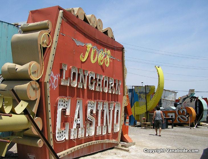 las vegas sign graveyard. picture taken at las vegas