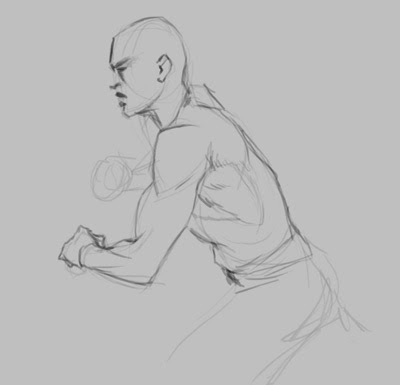 how to draw arm muscle step 2