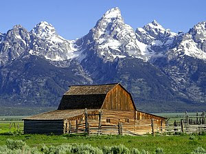 Grand Tetons Barns The John Moulton Barn on Mo...