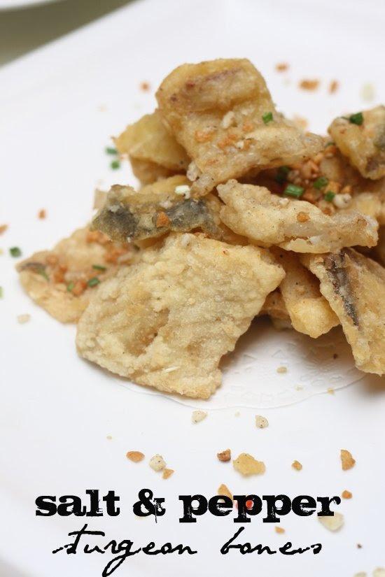 salt and pepper sturgeon fish bone