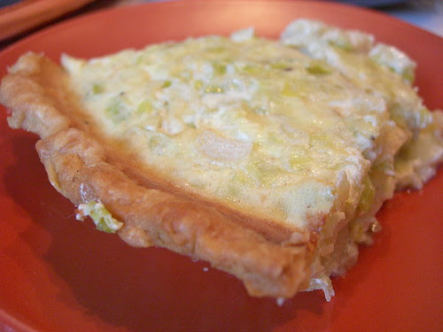 Slice of Leek Quiche