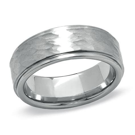Triton Men's 8.0mm Cobalt Hammered Wedding Band   Wedding