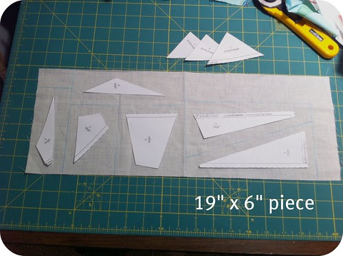 Size of fabric for background pieces