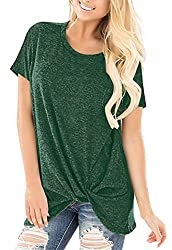 55% Price Drop For Women Green Twisted Shirts