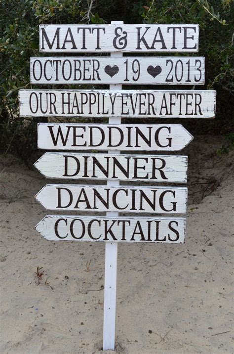 Directional Wedding Signs Custom Made Make Design Your Own