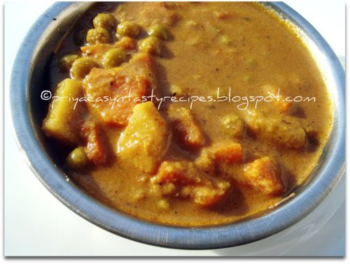 Mixed Vegetable Kurma With Cashews