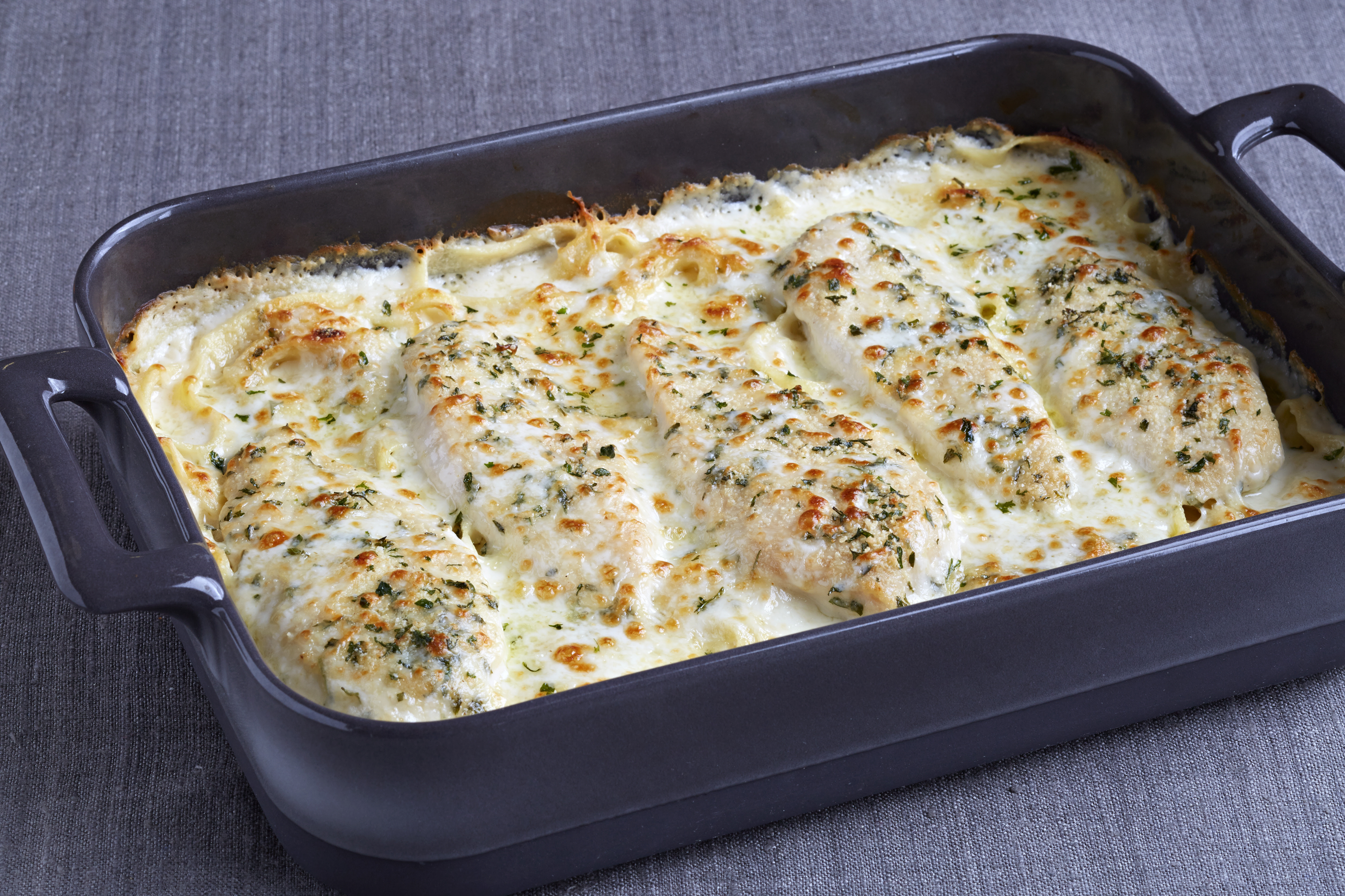 Four Cheese Chicken Alfredo Casserole My Food And Family