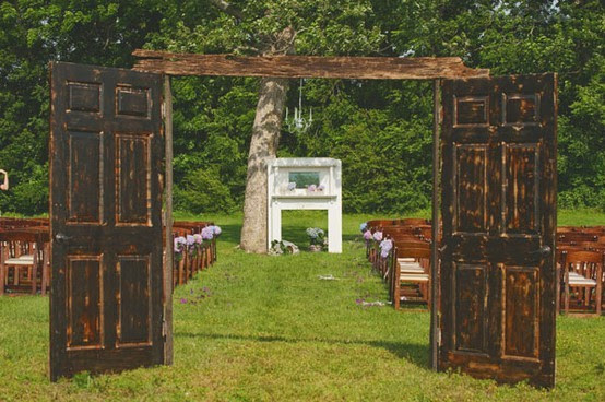 Outdoor wedding with long aisle « Weddingbee Boards