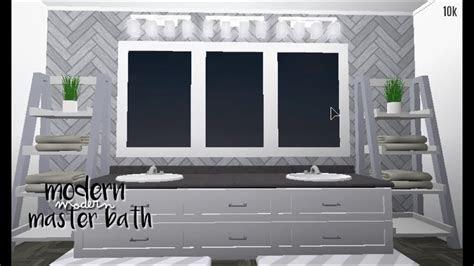 bloxburg modern master bath  youtube