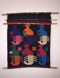 Vintage Guatemalan Woven Wall Hanging