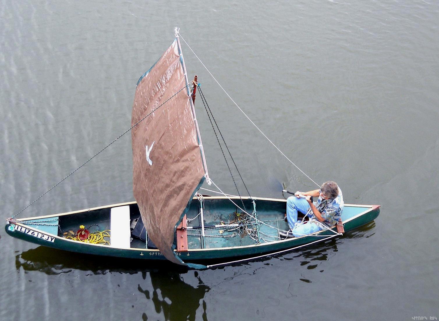 "How to make a Sail Canoe | The ""Q"" Canoe w/ a square sail |"