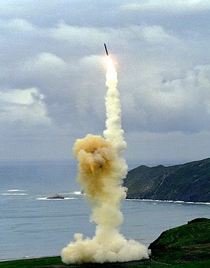 LGM-30 Minuteman ballistic missile launched fr...