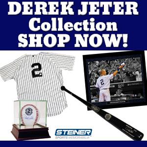 Find Derek Jeter Memorabilia at SteinerSports.com