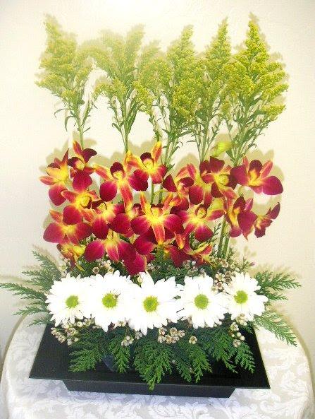Designs Per Fresh Flower Arrangement Intermediate Course California Flower Art Academy