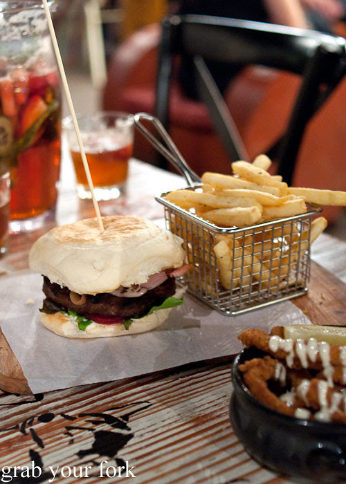 ritz beef burger at marrickville ritz hotel
