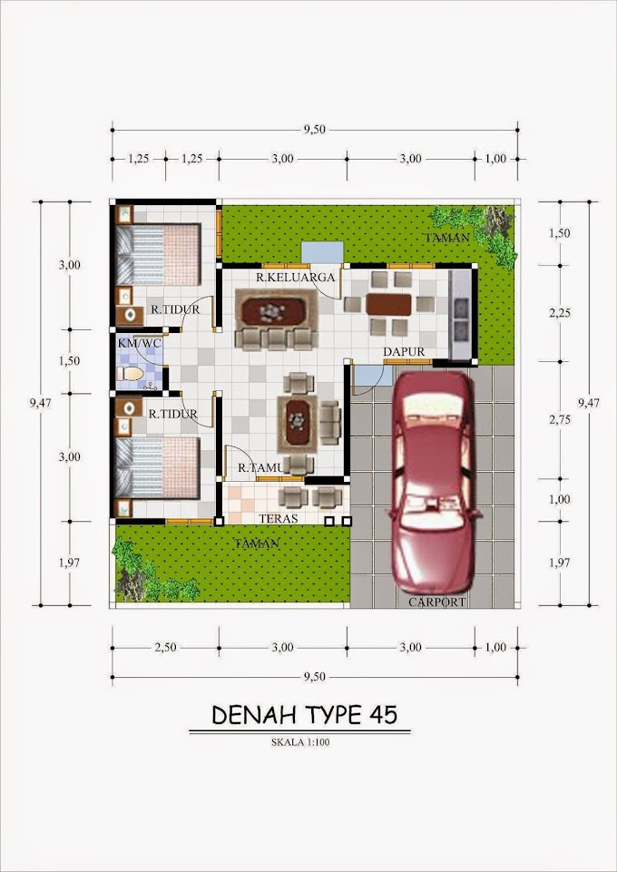 Denah Rumah Minimalis Tipe 70 | Ide Rumah Minimalis