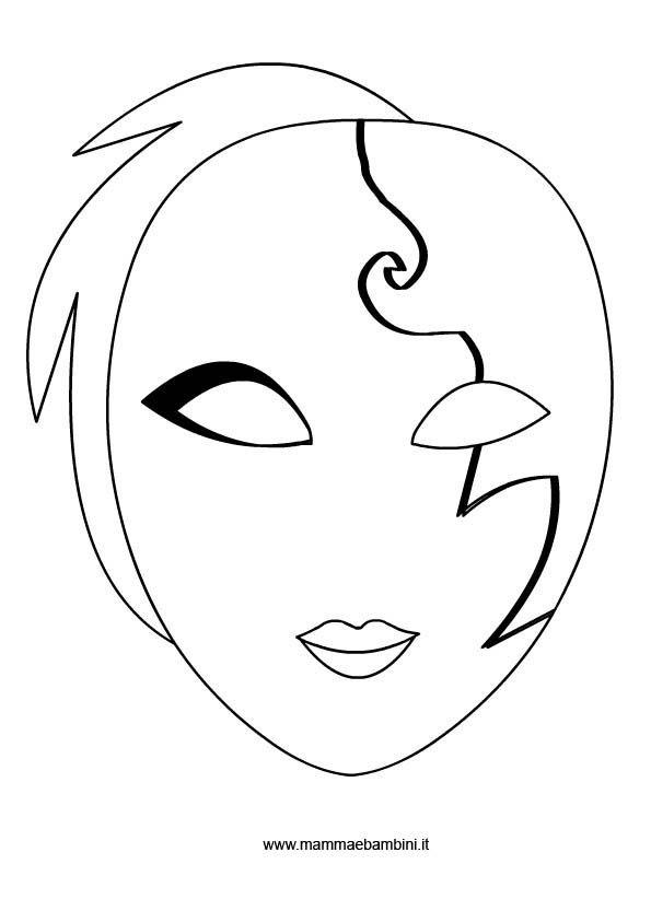 Maschera Veneziana Da Colorare Mamma E Bambini