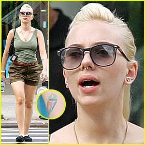 Scarlett Johanssons Nose Ring Back In Full Force Scarlett