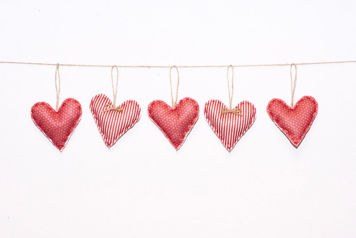 Holiday Decor Valentines ornaments Valentines by MyHouseOfDreams