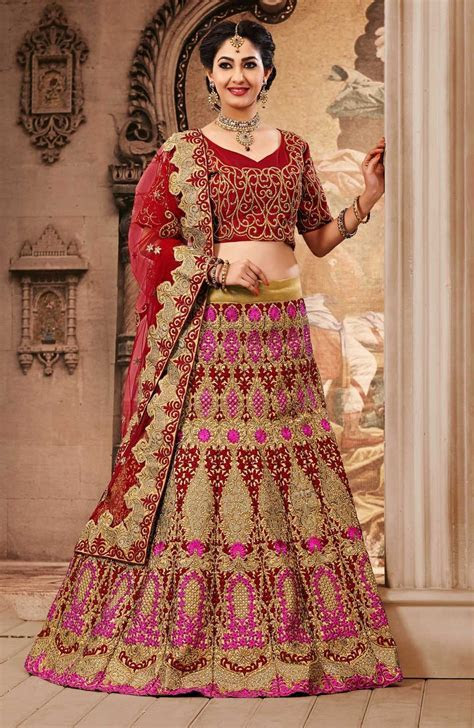 Latest and Stylish Indian Bridal Lehenga Designs 2017 for