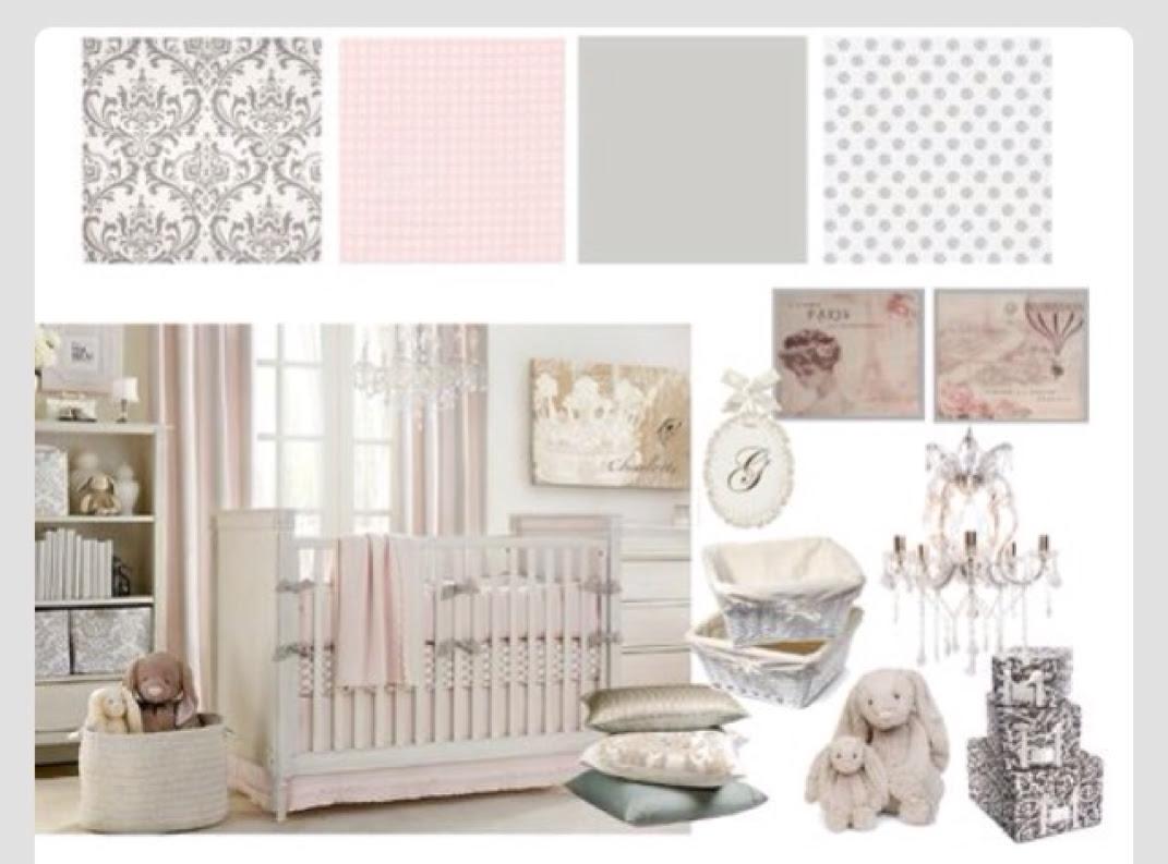 Baby Girl Nursery Ideas Pink Grey And White Theme Kesä