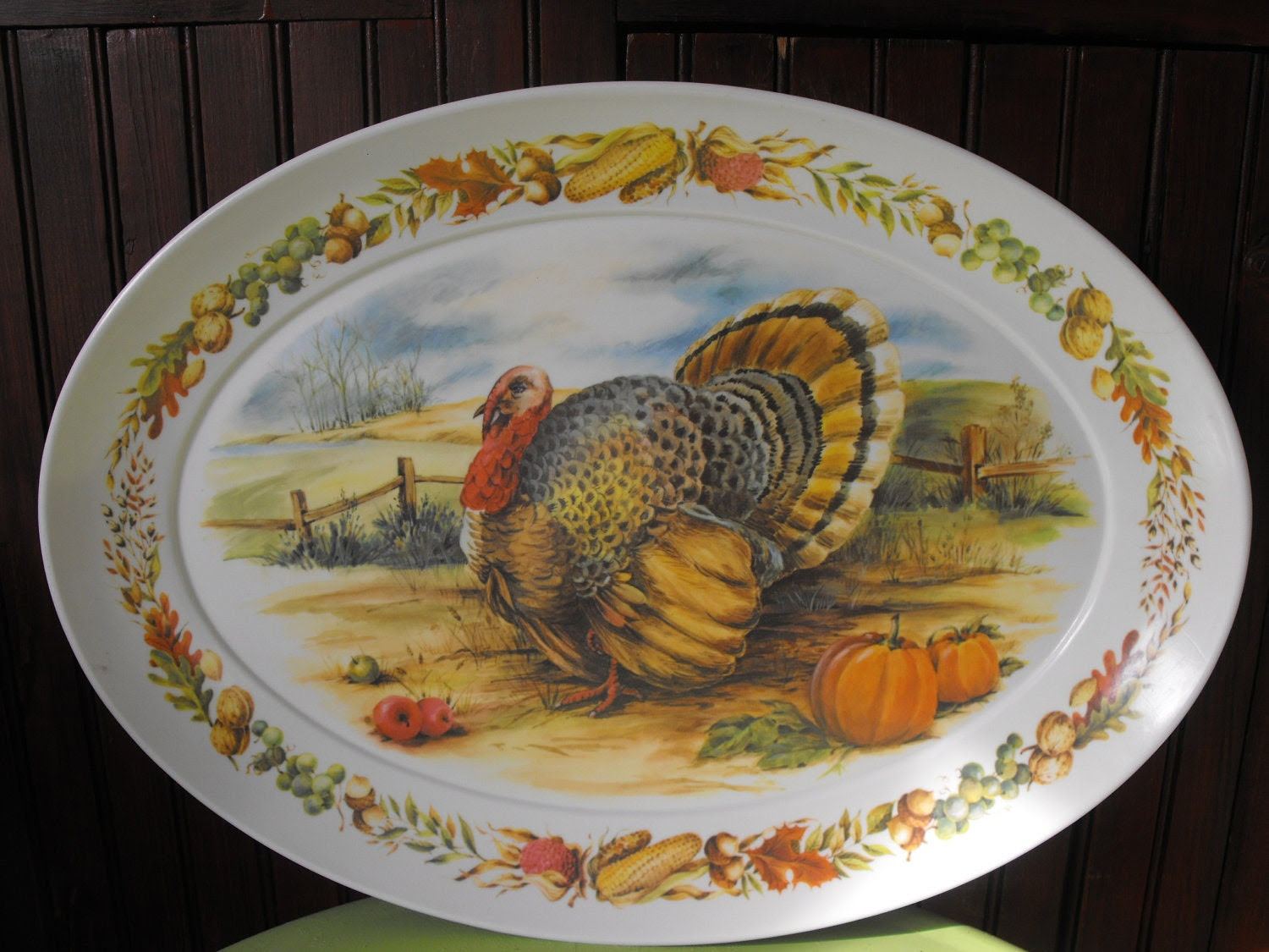 brookpark melmac turkey platter