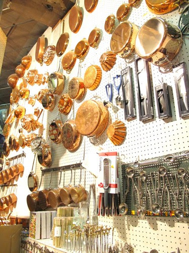 Copper ware at E Dehillerin