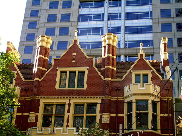 Professional Chambers building, 120 Collins Street Melbourne. (110-114) Built 1908. Queen Anne style. Architect: Beverly Ussher.