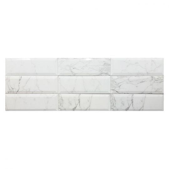 Tesoro Bisel Cararra Subway Tile 4 X 12