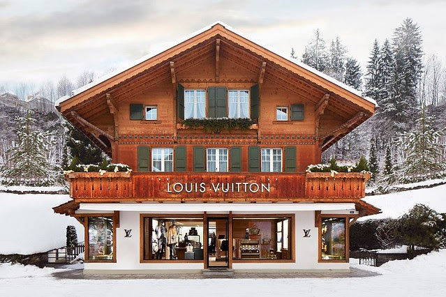 Louis Vuitton Winter Resort Store in Switzerland