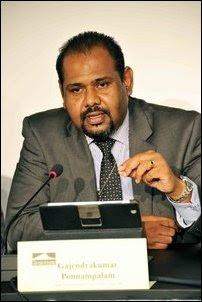 Gajendrakumar Ponnambalam of Tamil National Peoples' Front