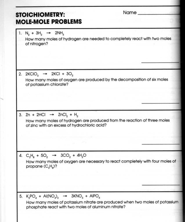 Chemistry Stoichiometry Worksheet Template Tips And Reviews