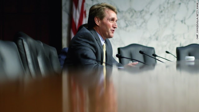 Flake calls a GOP presidential candidate endorsing same-sex marriage 'inevitable'