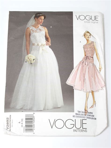 Vintage Vogue Pattern No. 2892 80's Sewing Pattern: 80s
