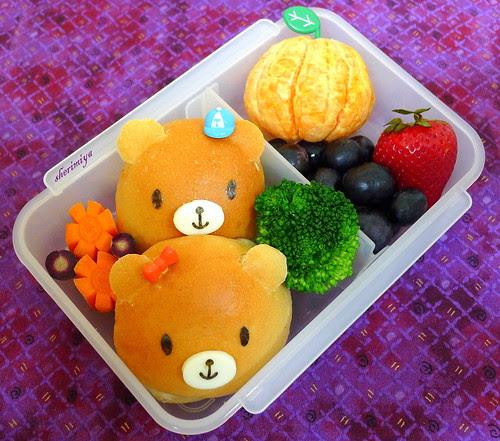 Bear Friends Bento by sherimiya ♥