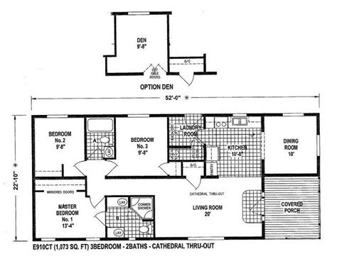 mobile home blueprints  bedrooms single wide  ect