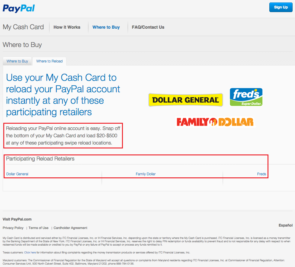 New PayPal My Cash Cards and Online Loading Process (Light ...