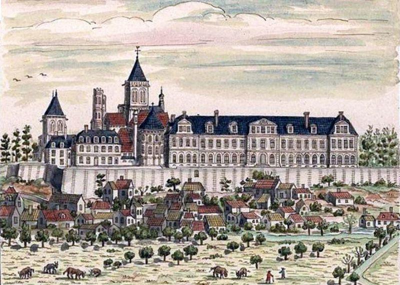 Abbaye aux Dames, Caen 1702.jpg