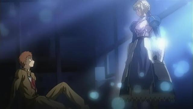 Saber aparece ante Shioru